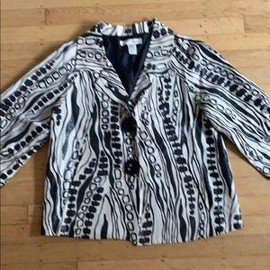 WD NY Anthro Dressy cropped linen jacket size 10